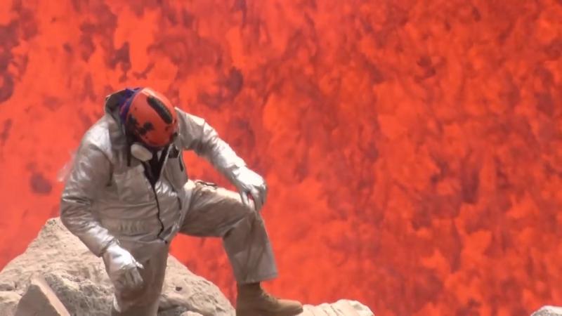 Spectacular new video of Benbow lava lake eruptions Ambrym Vanuatu