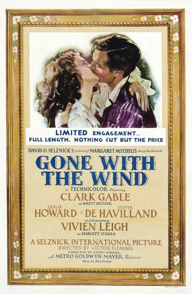 Афиша фильма «Унесённые ветром» (1939)