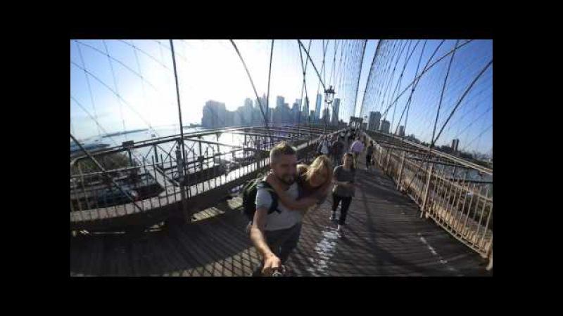 360 видео, США, Нью Йорк, Бруклинский мост! Кругосветка 2017