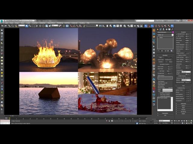 Плагин Phoenix FD - создание огня, дыма, воды в 3ds Max. Особенности версии 3.0.