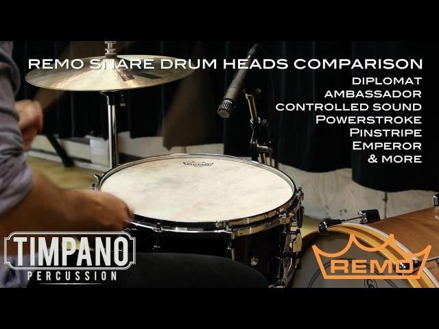 ULTIMATE Remo Snare Drum Heads Comparison Timpano Percussion