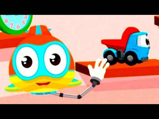 Dessin animé éducatif pour les petits Flippy-petit sous-marin fait le puzzle | Léolecamion curieux