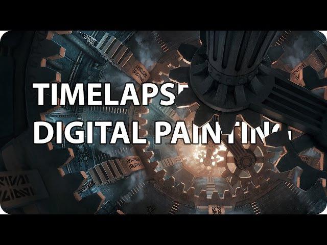 Timelapse Digital Painting - Dwemer Assembly | enviro landscape concept illustration speedpainting