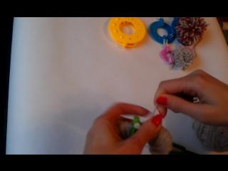 как делать  помпоны на устройстве Pom-pon