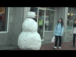 Пранк: Страшный Снеговик / Scary Snowman Prank