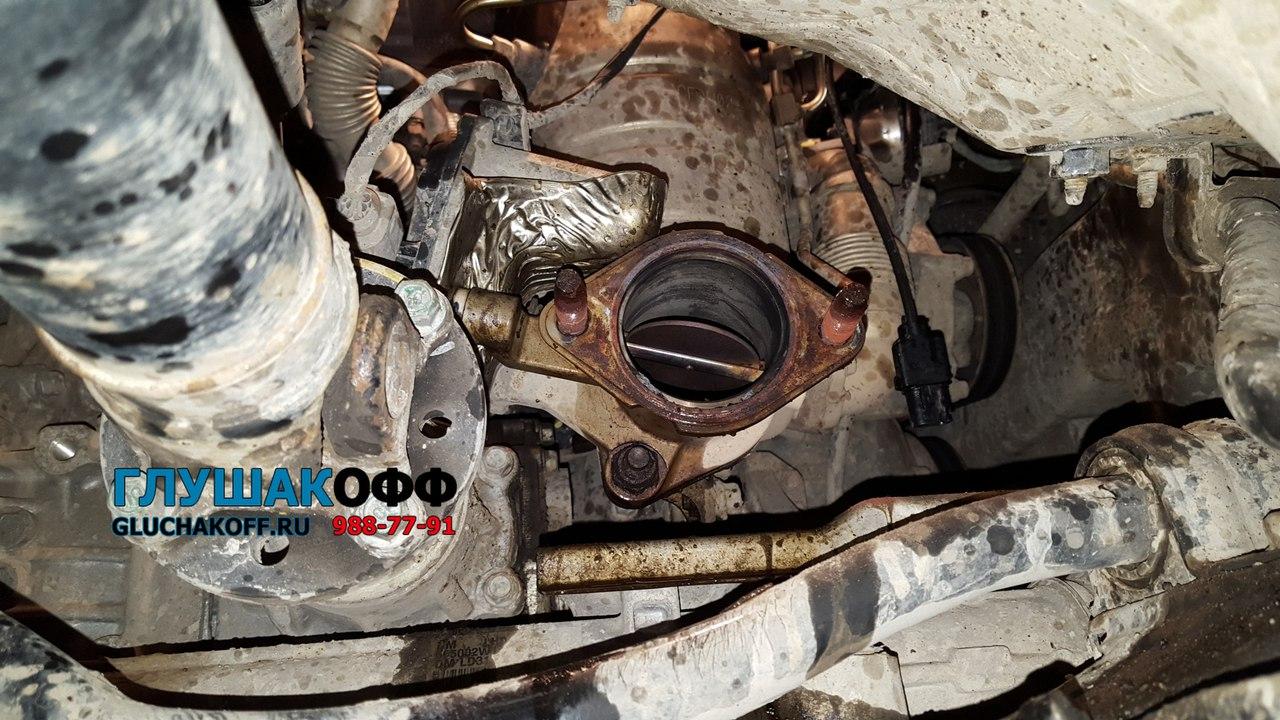 Hyundai Santa Fe III 2.0 CRDi - Удаление сажевого фильтра + чип-тюнинг ДВС + Тюнинг выхлопа на нержавейке.