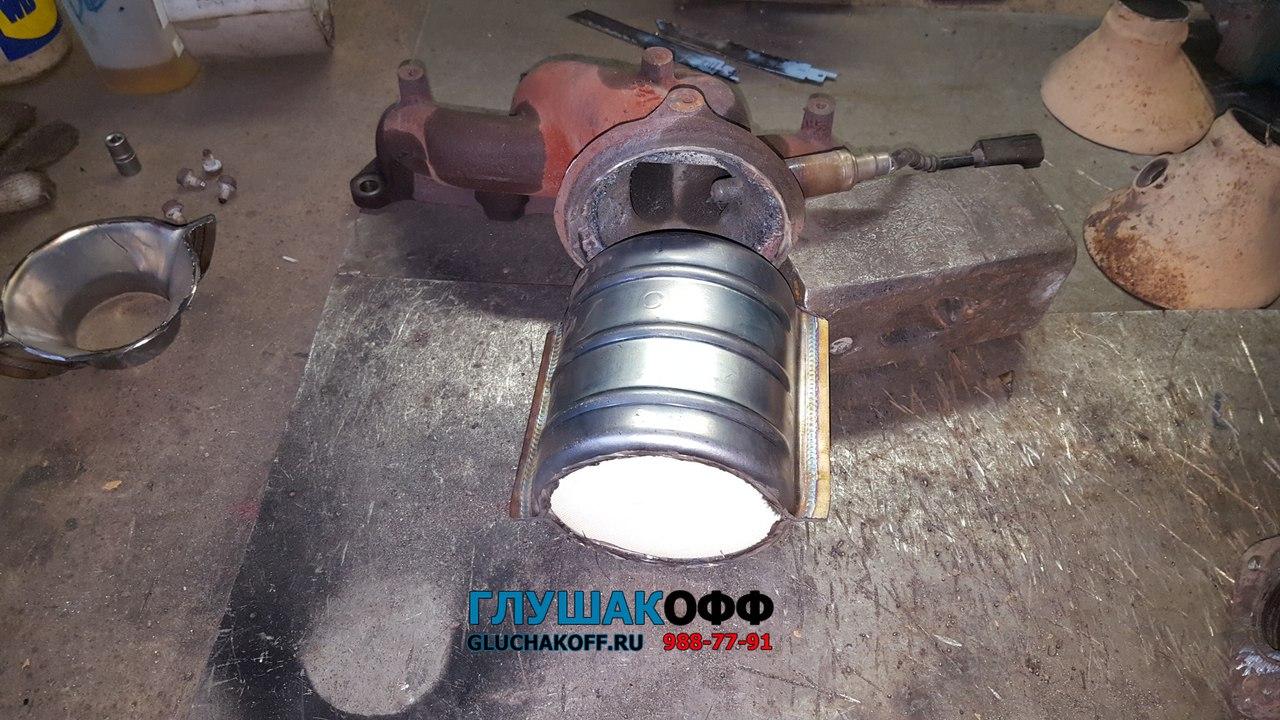 Kia Speсtra RS - Ремонт катализатора http://gluchakoff.ru