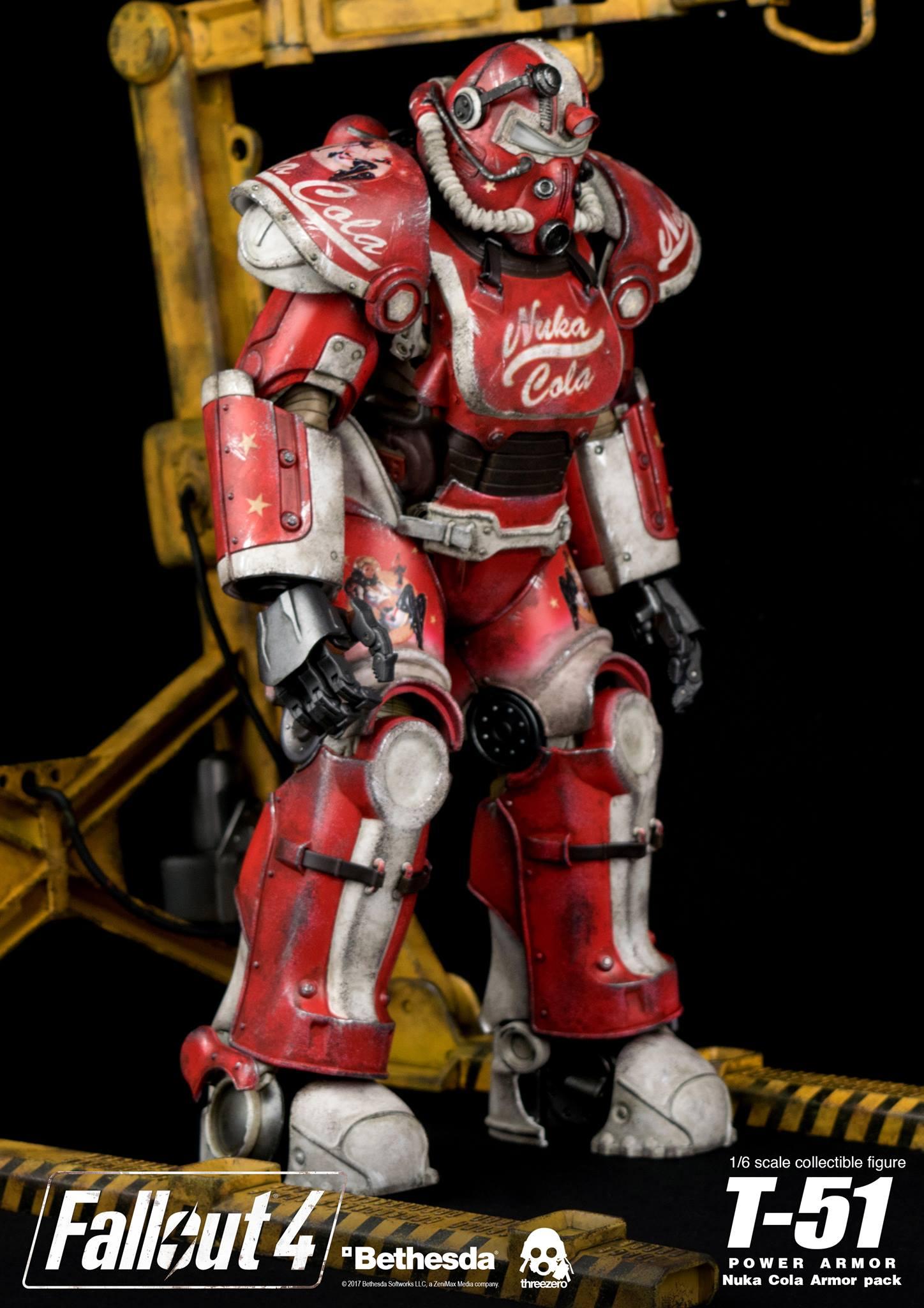 ThreeZero открыли предзаказ на набор сменных панелей в стиле Нюка-Колы для фигурки силовой брони Т-51 формата 1/6 по мотивам игры Fallout 4.