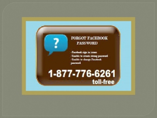 Lost account password? Facebook Password Recovery avails @ 1-877-776-6261 which is totally toll-free