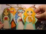Сувенирные ангелочки из дерева (ручная роспись) и моя
