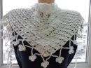 Белый бактус шейный платок крючком White baktus scarf Crochet Шаль 22