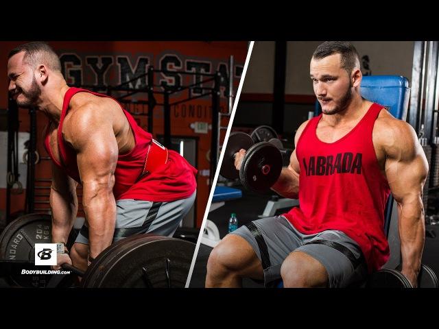 High-Volume Back Biceps Workout | Hunter Labrada