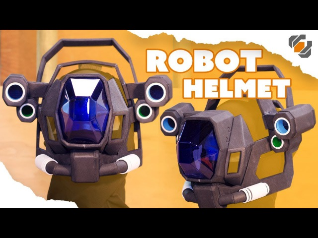Vacuform Visor and EVA Foam Robot Helmet - Destiny Sweeper Bot Build