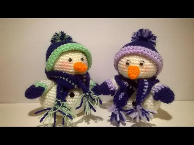 Pupazzo di Neve Uncinetto Amigurumi Tutorial- Snowman Crochet - Muneco de Nieve Croche