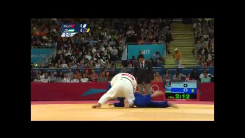 TUVSHINBAYAR Naidan (MGL) - RAMZIDDIN Sayidov (UZB) London 2012 Judo -100kg (Round of 8)