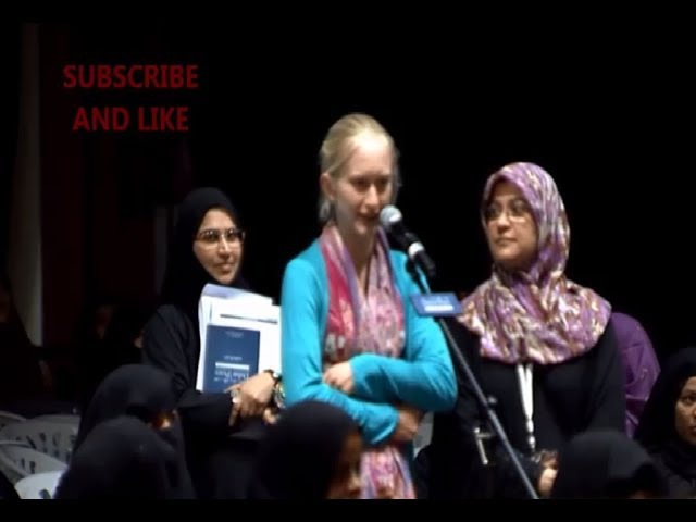 A blond girl ask to Dr.Zakir Naik. Is Jesus really crucified or no?