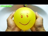 5 Wet Balloons Learn Colors Faces TOP Learn Colours Water Balloon Finger Nursery Compilation