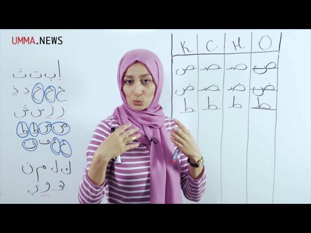 Арабский язык Урок 3 Буквы сод, дод, то, зо, айн, гайн, каф