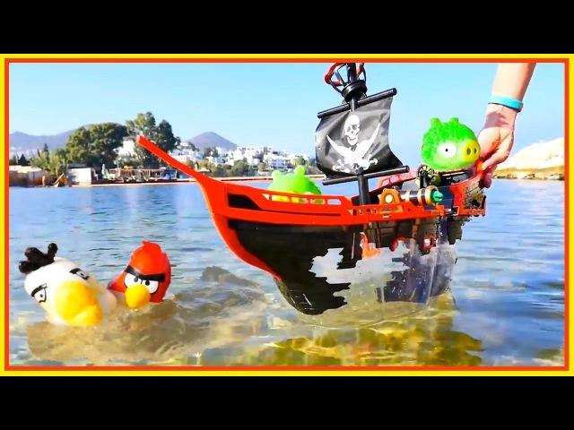 Video per bambini da GIOCATTOLI PER BAMBINI. Giochi sulla spiaggia. Angry birds e i pirati