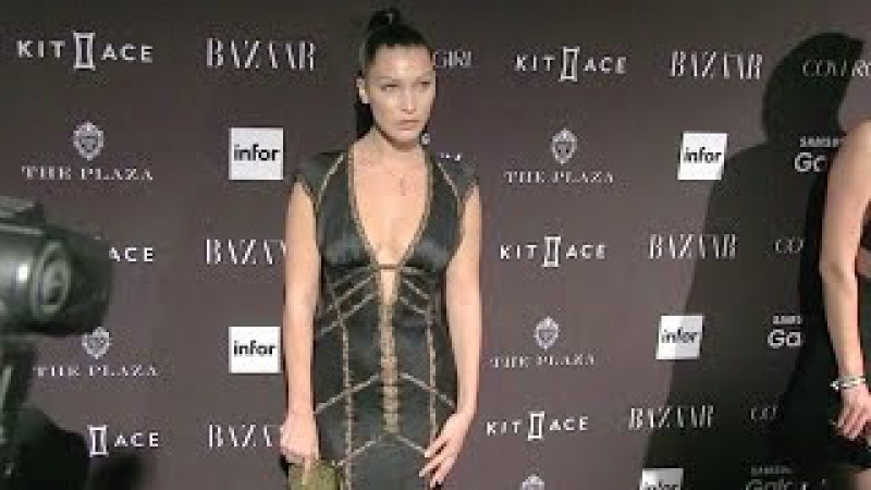 Model Bella Hadid at the Harpers Bazaar Icons Party in New York City