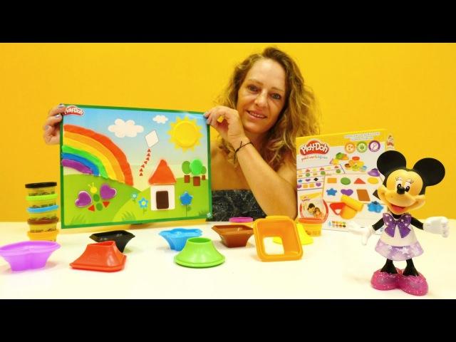 Minnie Mouse ile PlayDoh oyunları. Renkleri ve şekilleri öğreniyoruz ❤💛💚💙eğiticivideo