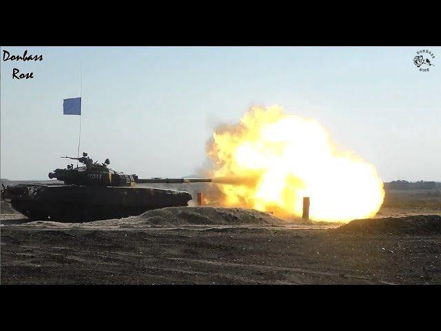 Tank biathlon in DPR Day 1/Танковый биатлон в ДНР - день 1й