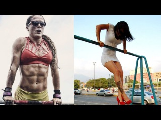MUSCLE UPS GIRLS - CRAZY FEMALE FITNESS MOTIVATION