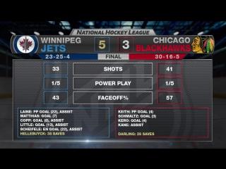 Обзор матча: Чикаго - Виннипег (27.01.2017)