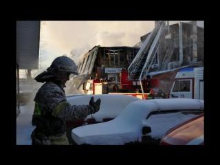 7 января 2017 год. Возгорание в административном здании по адресу Ярославское шоссе дом 55 корпус 1