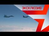 Истребитель Су-27 отгоняет F-16 НАТО от самолета Шойгу: эксклюзивные кадры
