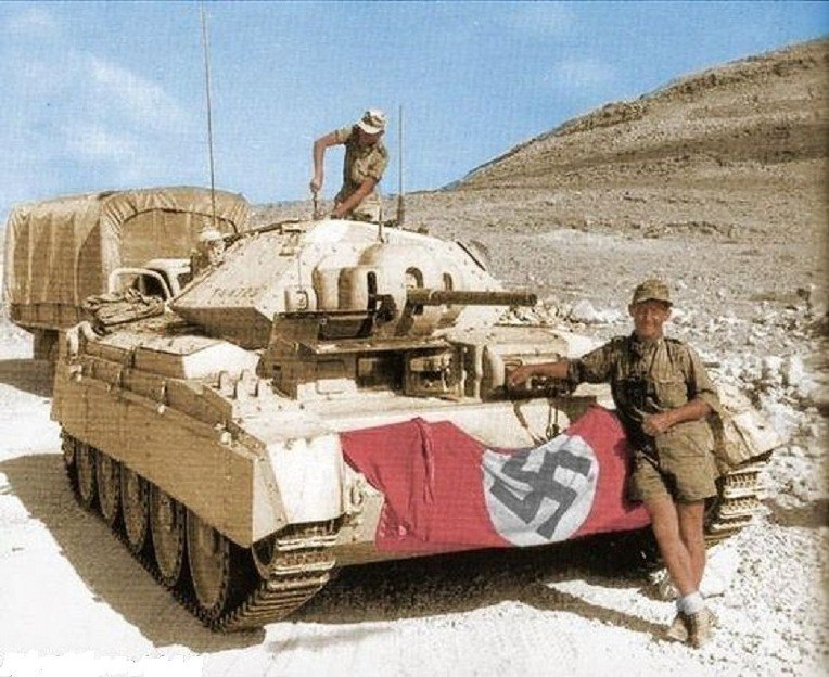Британский крейсерский танк Crusader II на службе у Африканского корпуса