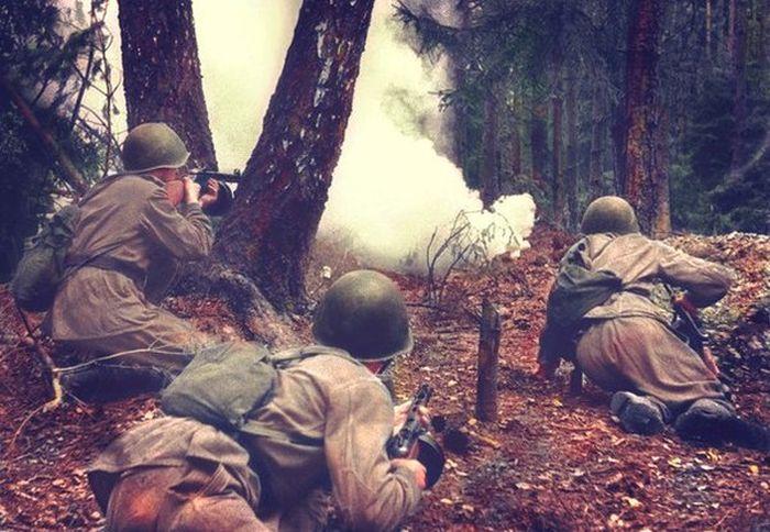 Автоматчики 1-го Белорусского фронта