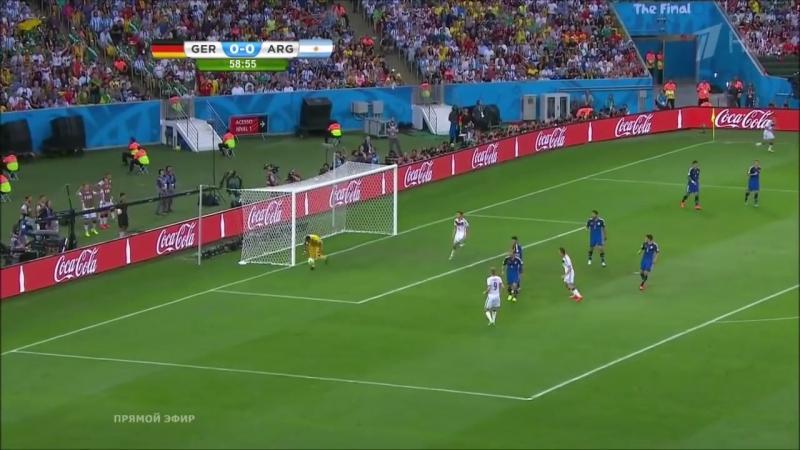 Финал ЧМ по футболу 2014 . Германия 1 - 0 Аргентина ( Победный гол )