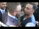 (WOW) HEATED BEEF!!! - CONOR McGREGOR & PAULIE MALIGNAGGI CLASH OUTSIDE THE T-MOBILE ARENA!