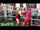 14 year old girl schools lady 'boxer' at Mayweather Boxing Club