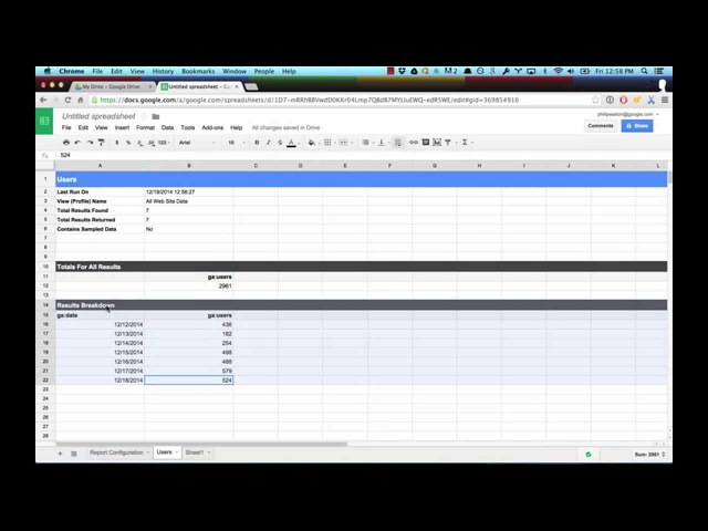 Introduction to the Google Analytics Spreadsheet Add-on