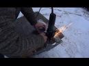 59 Как вырезать круглое отверстие в металле болгаркой Циркульное приспособление