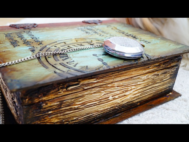 Decoupage Tutorial Vintage Wooden Book Ντεκουπάζ Ξύλινο Βιβλίο Diy Step by Step