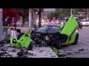 $300 000 McLaren Sports Car Completely Destroyed in Woodland Hills Crash two cars flee the scene