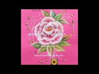 Roses One stroke. Rosas pinceladas. Peinture roses.Come dipingere la rosa. 13