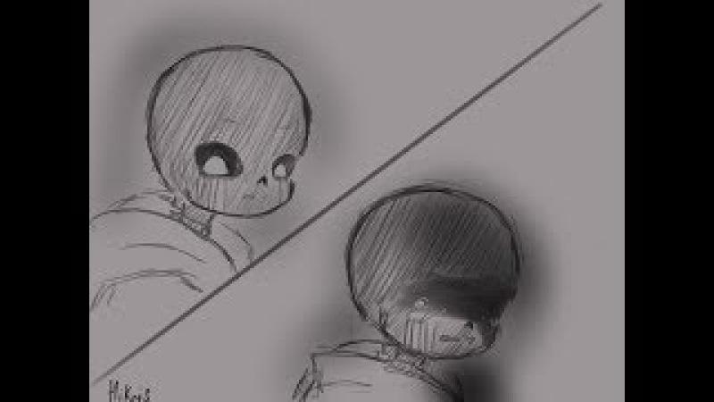 Грустный комикс по Undertale (RUS DUB)   Северный ветер ~