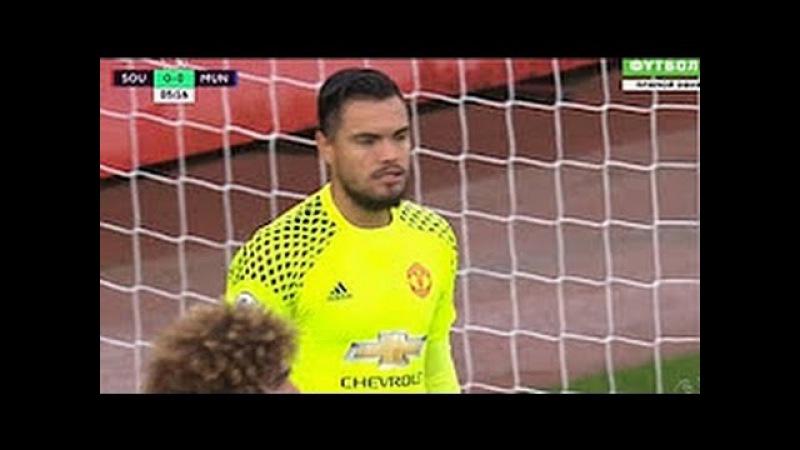 Southampton vs Manchester United 0:0 | Sergio Romero Penalty Save | May 17th '17