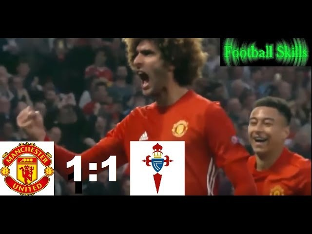 Manchester United vs Celta Vigo 1:1 in the Europa League Semifinal 11 May '17   HD
