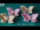 Резинки с бабочками из лент Канзаши DIY Erasers with Butterflies from Ribbons Kanzashi