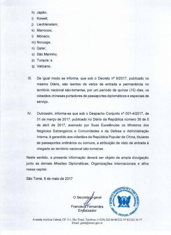 Отмена виз в Сан-Томе и Принсипи для граждан РФ c 25 апреля 2017