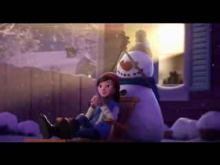 Лили и снеговик - трогательный мультик с доброй историей