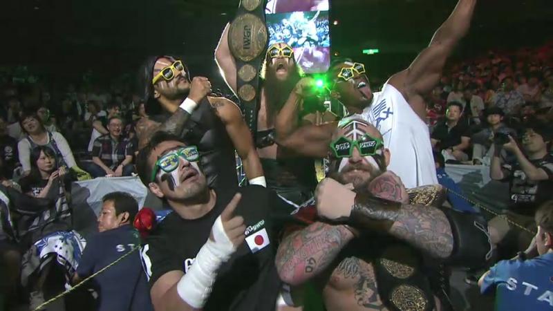 Bad Luck Fale, Cody, Hangman Page, Young Bucks vs. Ricochet, Ryusuke Taguchi, Katsuya Kitamura, War Machine