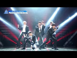 [PERF.] 170428 Выступление второй команды с Sorry Sorry – Super Junior - EP.4 Produce 101 @ Mnet Official