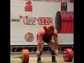 Станова тяга 355,5 кг - Рекорд Свту