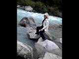 Горная река,..60 км час.Ловили форель